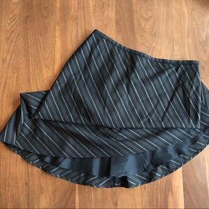 Women's pinstripe pencil asymmetric skirt Sz 2